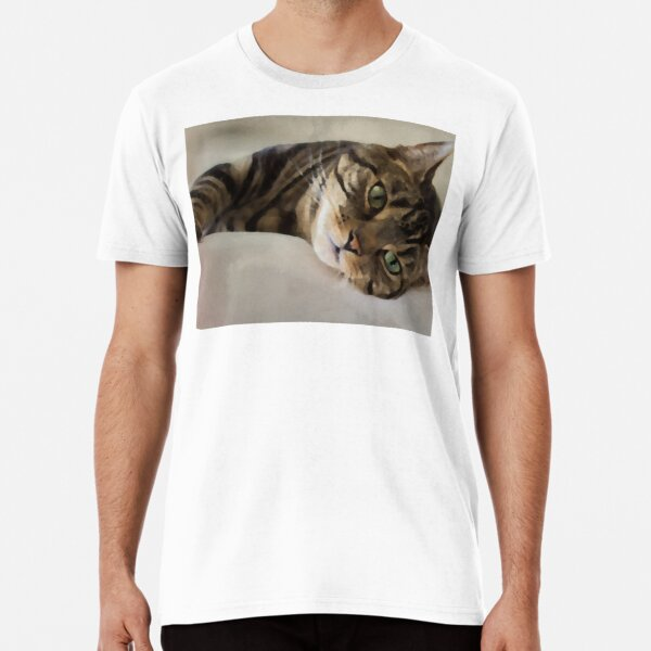 Brown Tabby Art Premium T-Shirt