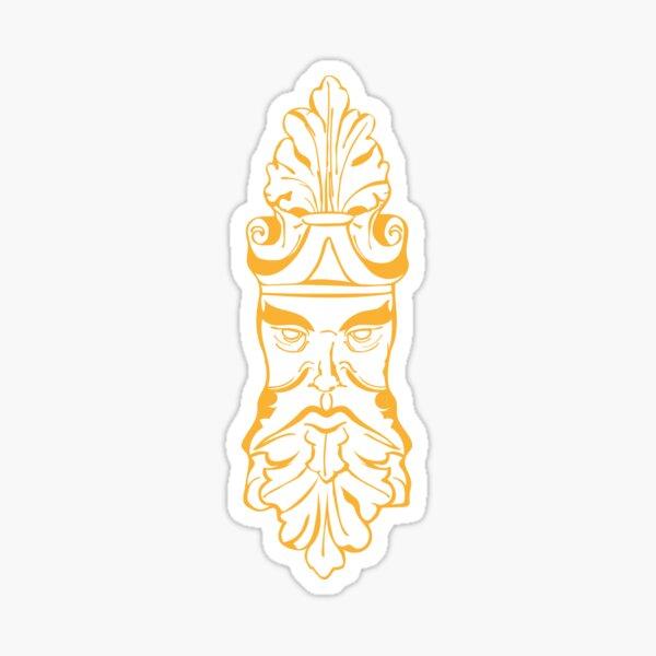 Old Man Oak (orange) Sticker