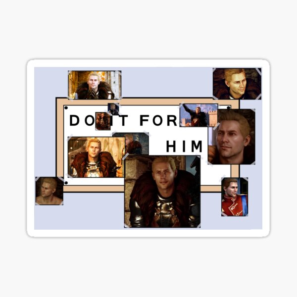 do it for him: cullen rutherford Sticker