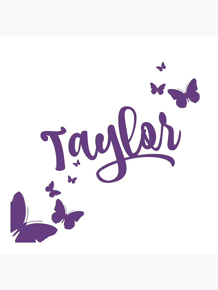 Taylor Swift Name With Butterflies Art Board Print By Saamcmrn Redbubble