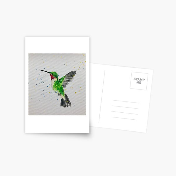 watercolor hummingbird Postcard