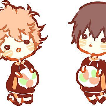 Mini Haikyuu!! sticker by Rainbronii