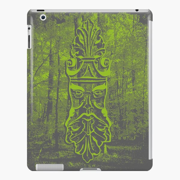 Old Man Oak - Forest Halftone (bright green) iPad Snap Case