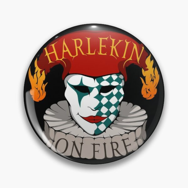 Logo-Button - Harlekin On Fire Button
