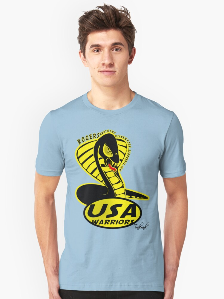 usa warriors snake by rogers bros  Unisex T-Shirt Front