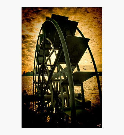 Hudson River Wheel Photographic Print