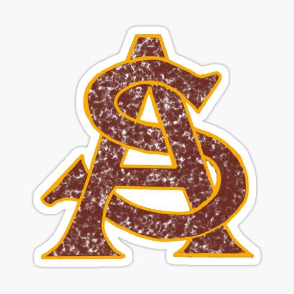 ASU Logo Maroon Sticker