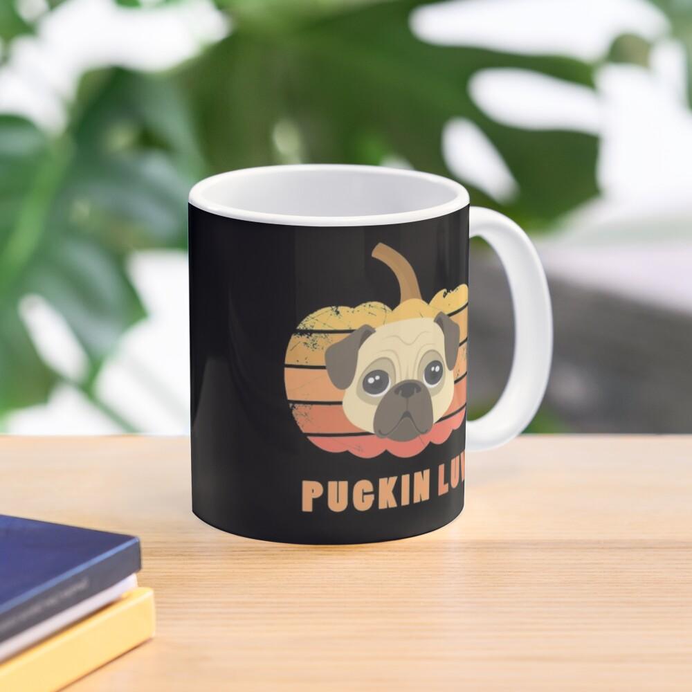 Pugkin Luv Jackolantern Pug Gourd Fleabag Puppy. Mug