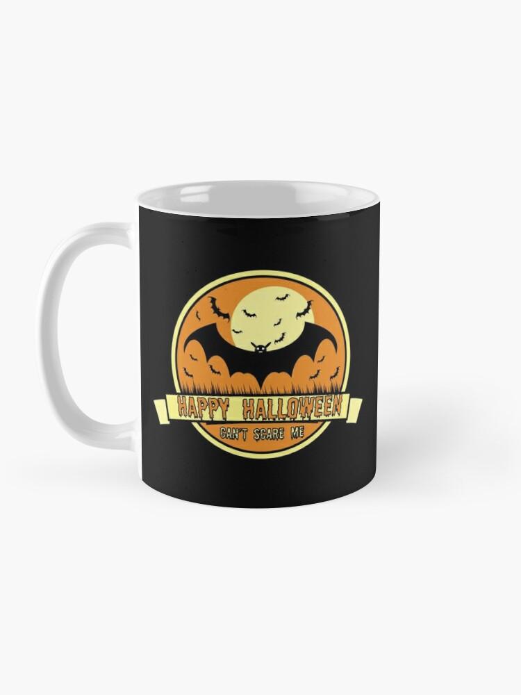 Alternate view of Can't Scare Me October Moonlit Spooky Vampire Bat. Mug