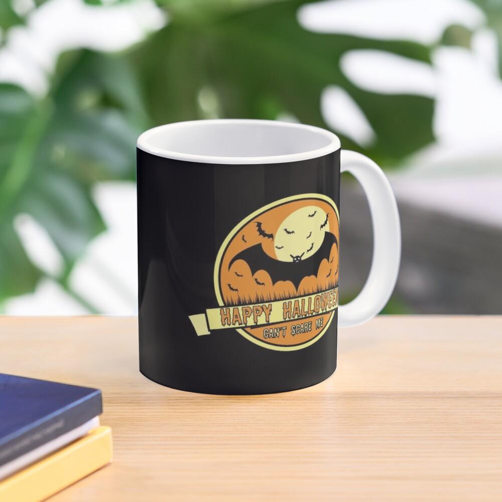 Can't Scare Me October Moonlit Spooky Vampire Bat. Mug