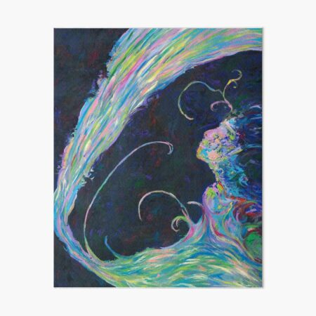 Becoming, Abstract Portrait Art by Courtney Hatcher Art Board Print