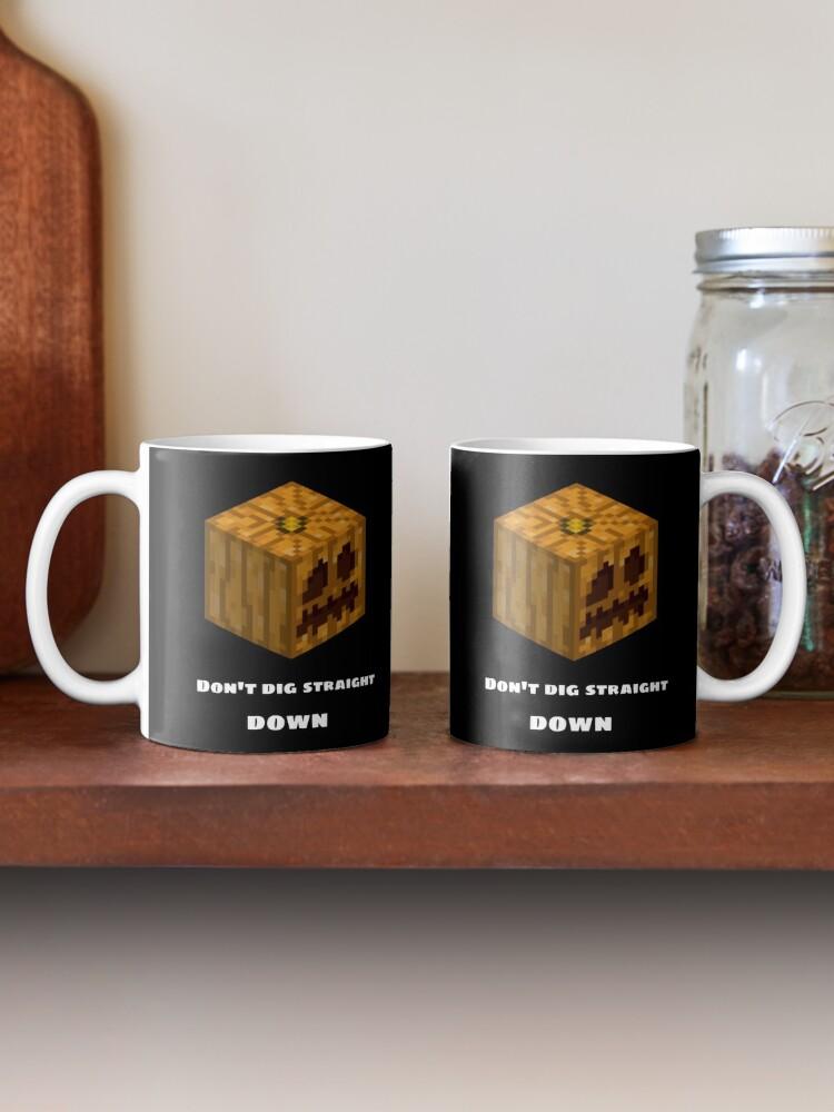 Alternate view of Don't Dig Straight Down Jackolantern Pixel Gourd. Mug