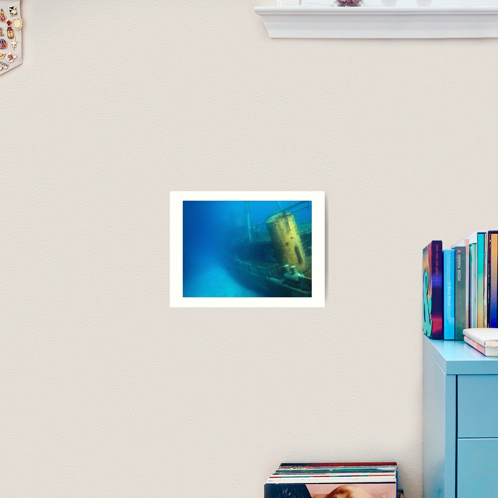 Kittiwake Wreck - Artificial Reef Celebrates Its First Birthday Art Print