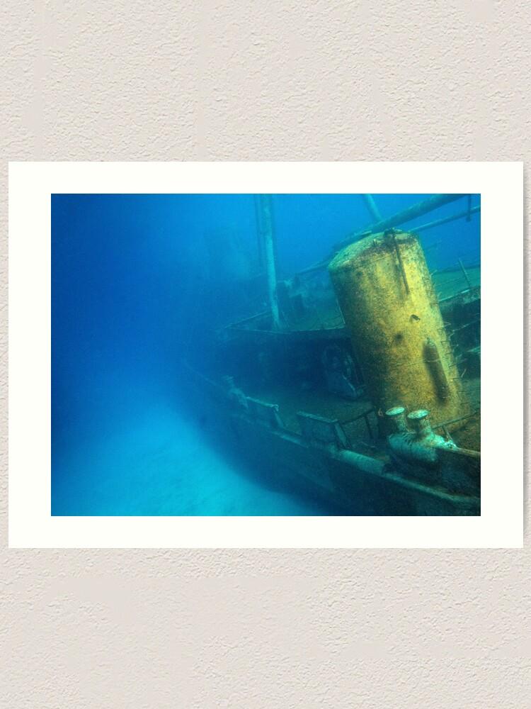 Alternate view of Kittiwake Wreck - Artificial Reef Celebrates Its First Birthday Art Print