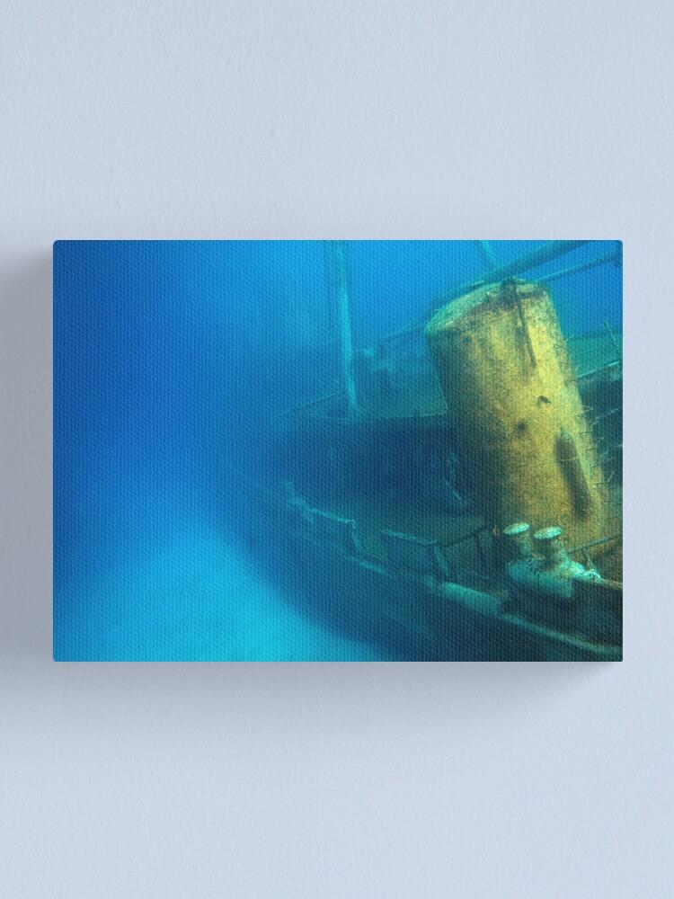 Alternate view of Kittiwake Wreck - Artificial Reef Celebrates Its First Birthday Canvas Print