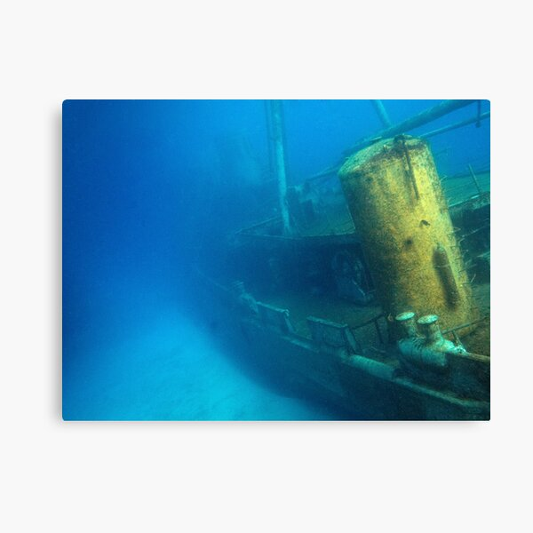 Kittiwake Wreck - Artificial Reef Celebrates Its First Birthday Canvas Print