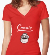 Commie Women's Fitted V-Neck T-Shirt