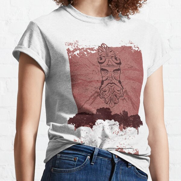 Old Man Oak - Crumpled Paper (wine red) Classic T-Shirt
