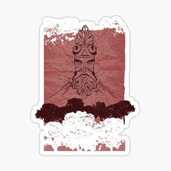 Old Man Oak - Crumpled Paper (wine red) Sticker