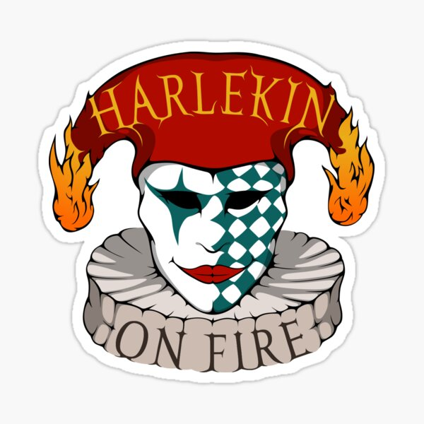 Logo-Sticker - Harlekin On Fire Sticker