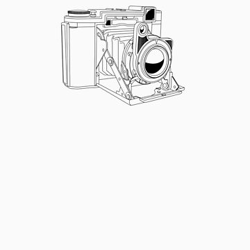 Zeiss Ikonta - Black Line Art - No Text by jphphotography