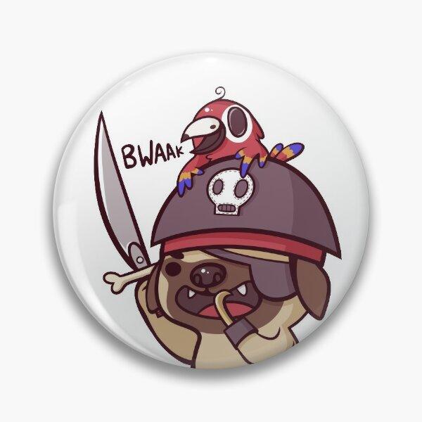 Pug Pirate! Pin