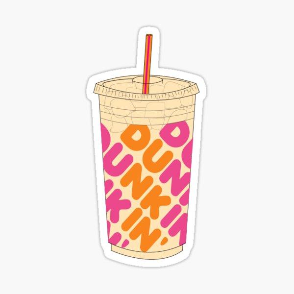 café helado Dunkin Pegatina