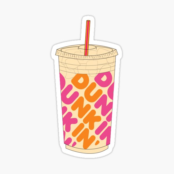 dunkin iced coffee Sticker