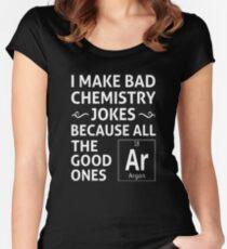 I Make Bad Chemistry Jokes Women's Fitted Scoop T-Shirt