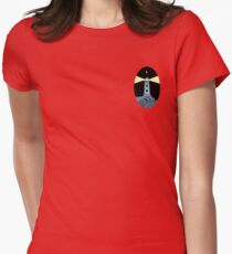 The Lighthouse (breast logo version) Womens Fitted T-Shirt