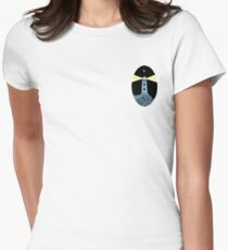 The Lighthouse (breast logo version) Women's Fitted T-Shirt