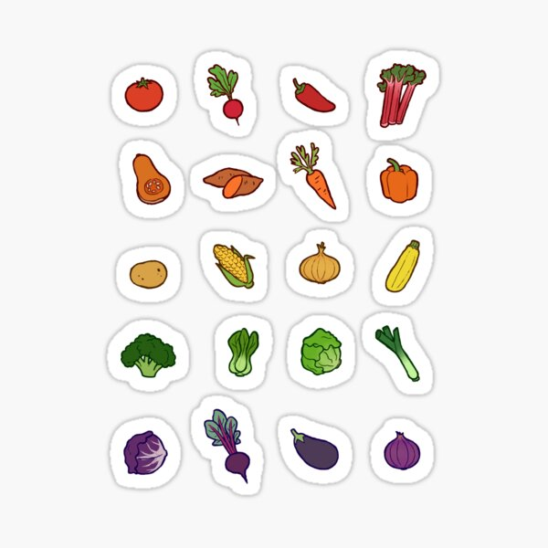 Vegetable Set Sticker