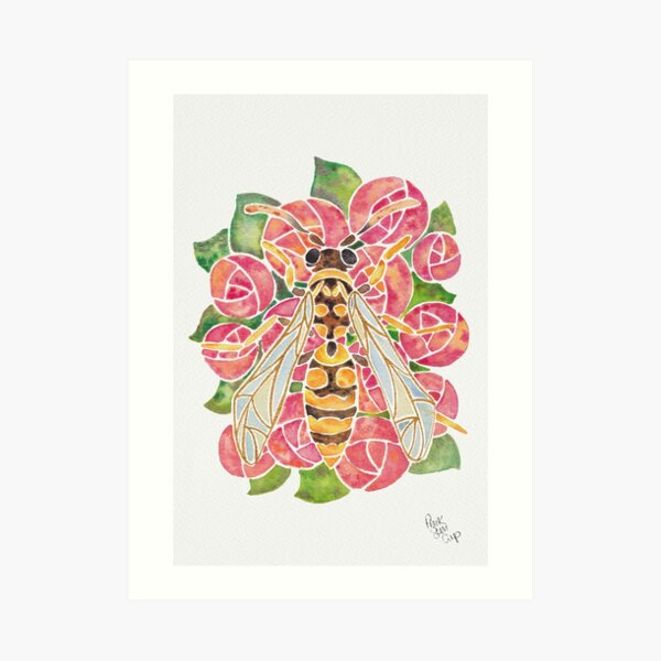Watercolor Wasp Illustration Art Print