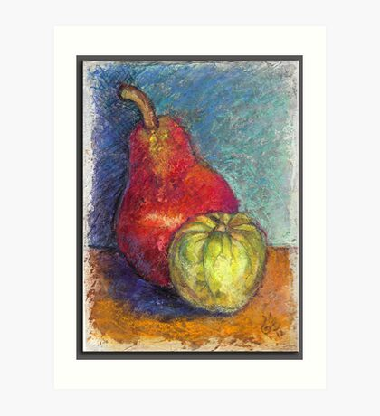 """Red Pear & Tomatillo""  Art Print"
