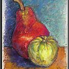 """""""Red Pear & Tomatillo""""  by Magaly Burton"""