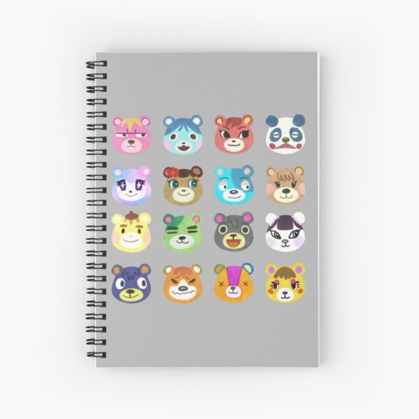 Animal Crossing Cub Villagers Spiral Notebook