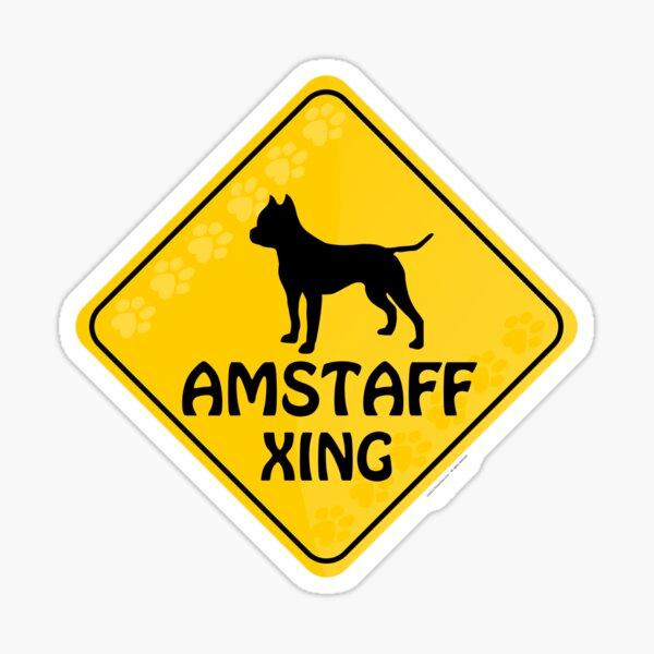 Amstaff Xing Sticker