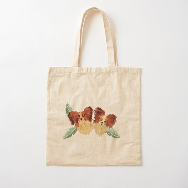 Papillon Pals Cotton Tote Bag