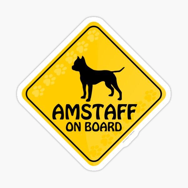 Amstaff On Board Sticker