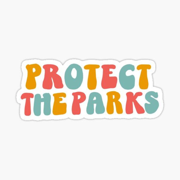 protect the parks retro sticker Sticker