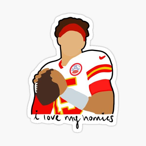 "patrick football player ""love my homies"" Sticker"