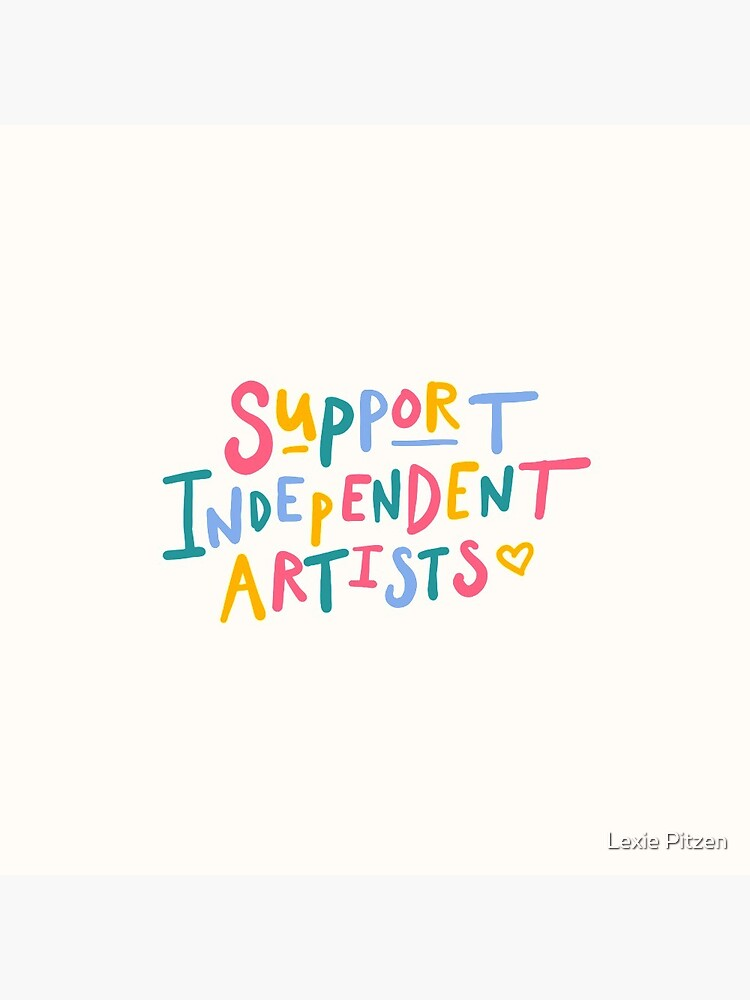 support independent artists rainbow quote sticker by glowingly