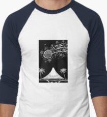 Comet over Taranaki Men's Baseball ¾ T-Shirt