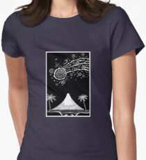Comet over Taranaki Womens Fitted T-Shirt