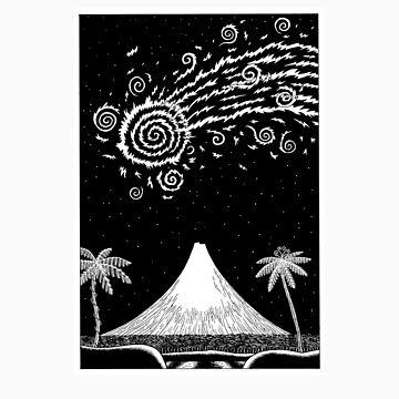 Comet over Taranaki by dylanhorrocks