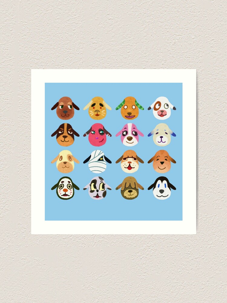 Animal Crossing Dog Villagers Art Print By Meme Bubble Redbubble