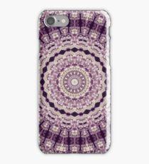 Hydrangea Ruffles -- Aubergine and Lavender Earth Mandala iPhone Case/Skin