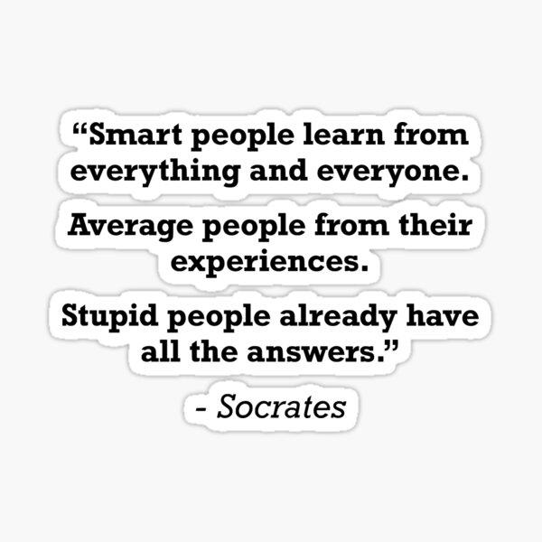 Socrates Quote Sticker