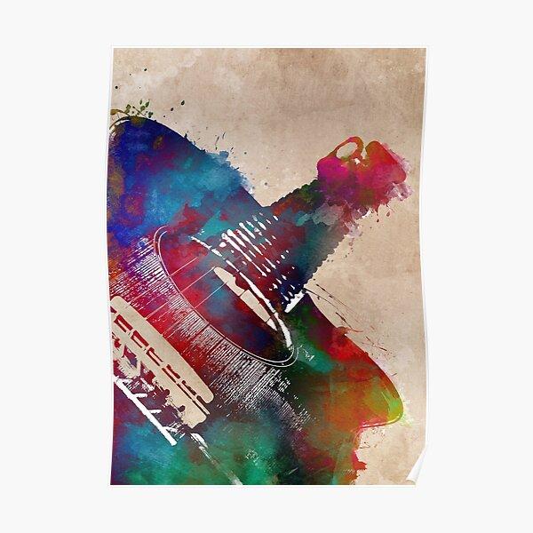 Guitar art 23 #guitar #music Poster