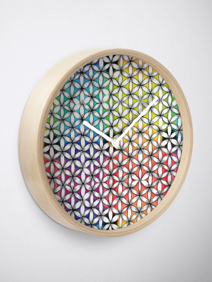 Alternate view of Flower of Life Clock
